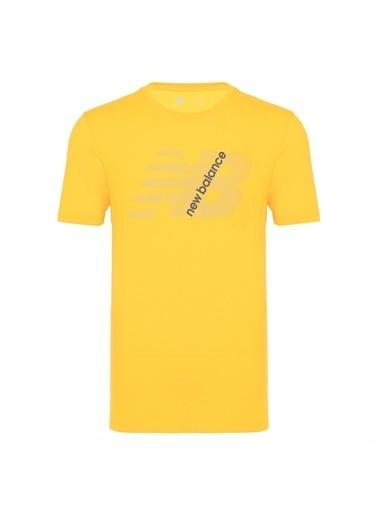 New Balance New Balance N Logo Erkek Tişört MTT913-FRS MTT913-FRS006 Sarı